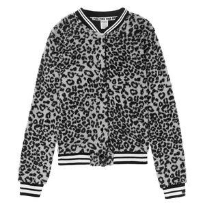 NEW Victoria's Secret PINK L Leopard Sherpa Bomber